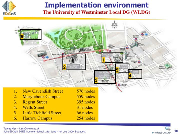 Implementation environment