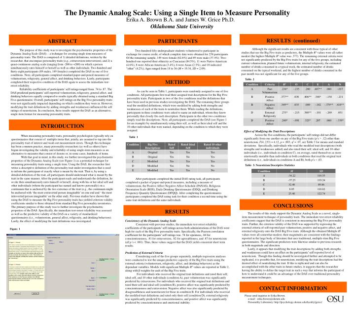 The Dynamic Analog Scale: Using a Single Item to Measure Personality