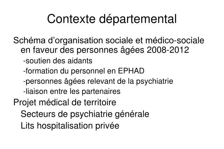 Contexte départemental