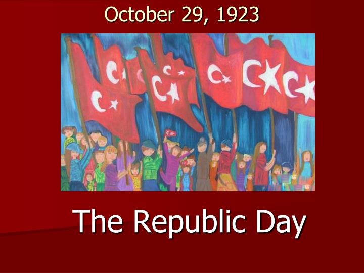 October 29, 1923