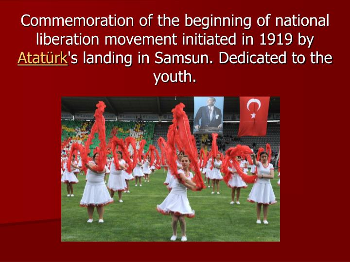 Commemoration of the beginning of national liberation movement initiated in 1919 by