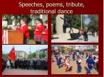 speeches poems tribute traditional dance