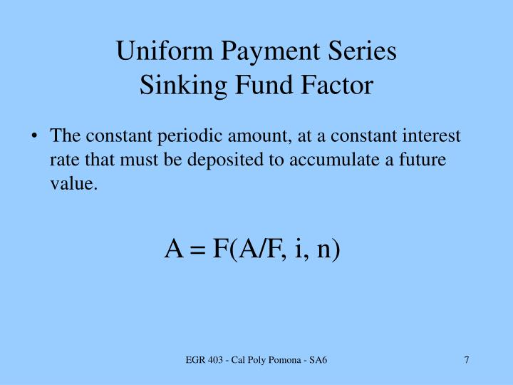 Uniform Payment Series