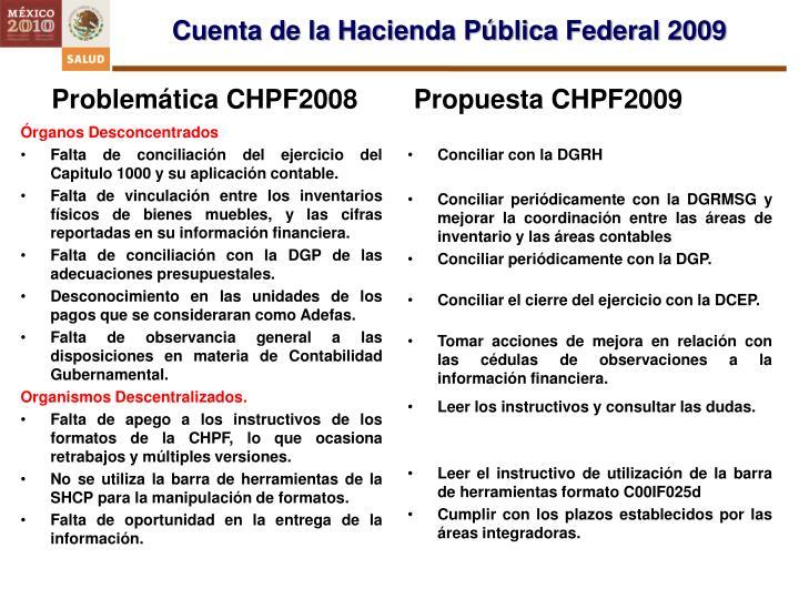 Cuenta de la Hacienda Pública Federal 2009