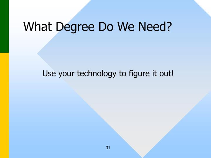 What Degree Do We Need?
