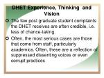 dhet experience thinking and vision2