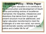 enabling policy white paper