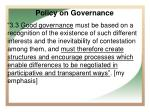 policy on governance1
