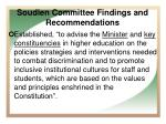 soudien committee findings and recommendations