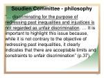 soudien committee philosophy