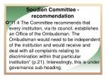 soudien committee recommendation