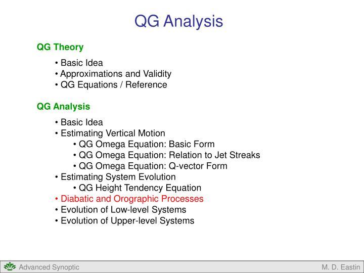 QG Analysis