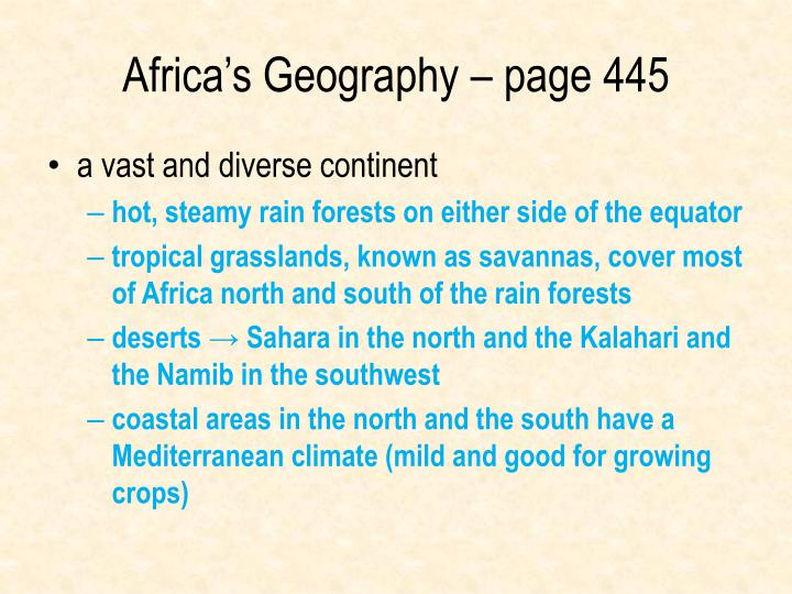 Africa's Geography – page 445