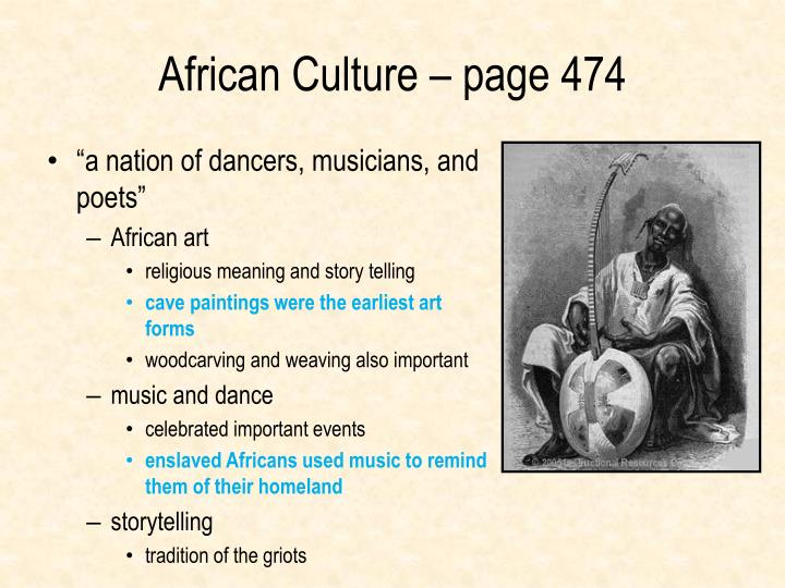 African Culture – page 474