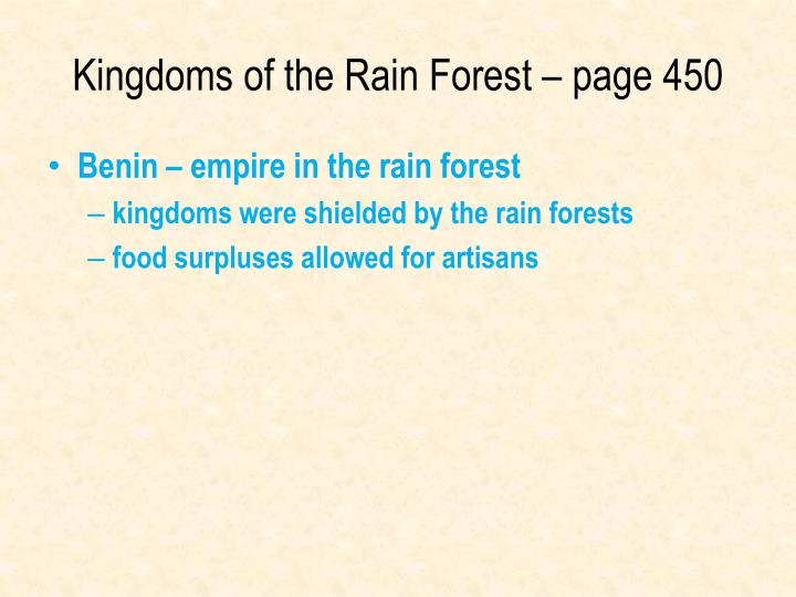 Kingdoms of the Rain Forest – page 450