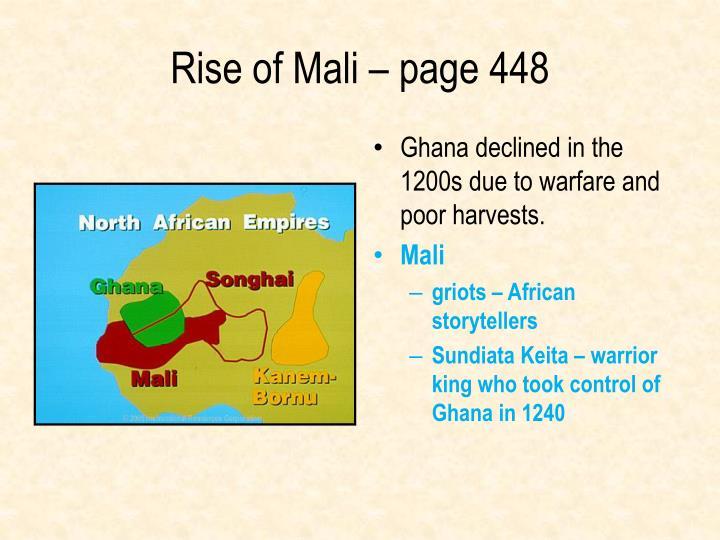 Rise of Mali – page 448
