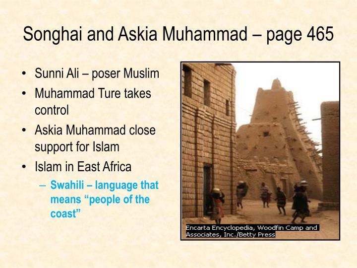 Sunni Ali – poser Muslim