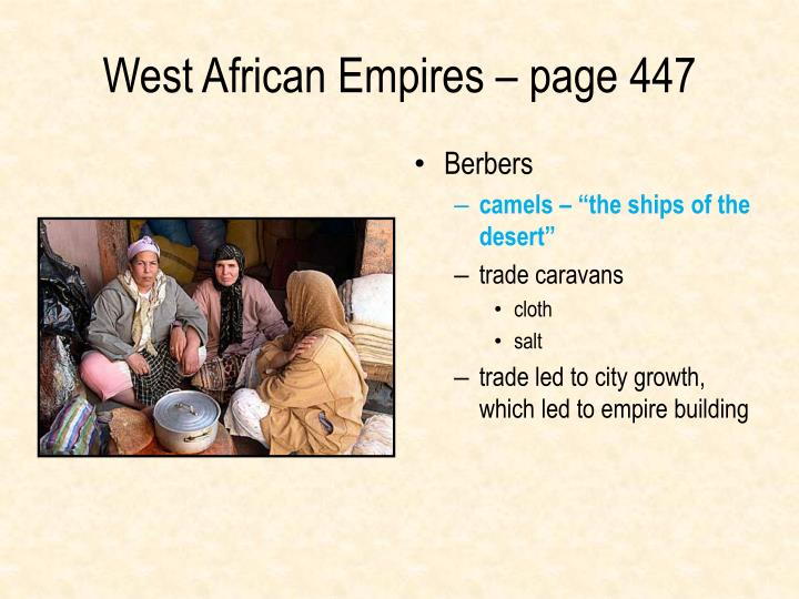 West African Empires – page 447