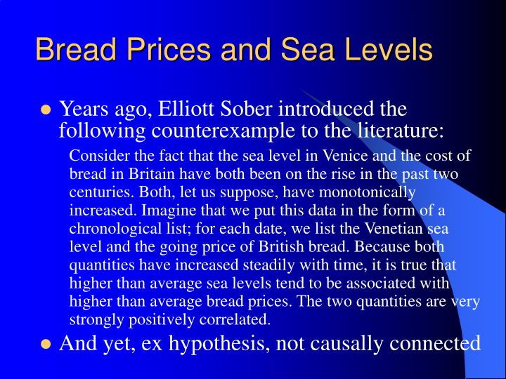 Bread Prices and Sea Levels