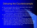 defusing the counterexample