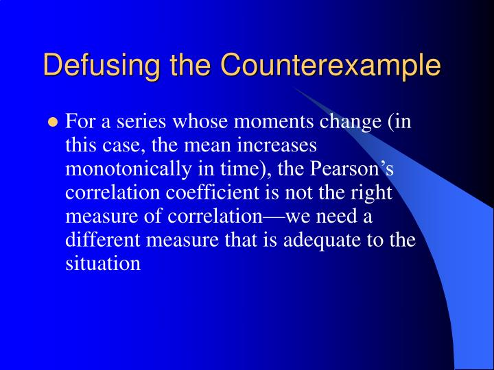 Defusing the Counterexample