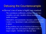 defusing the counterexample2
