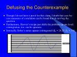 defusing the counterexample9