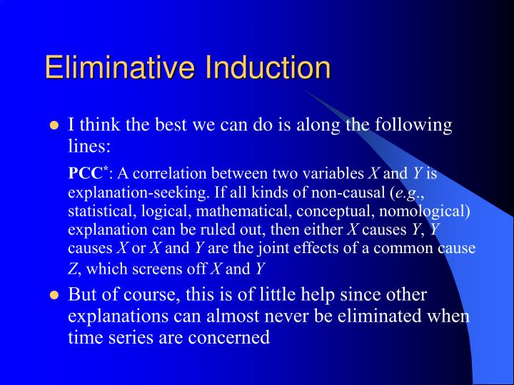Eliminative Induction