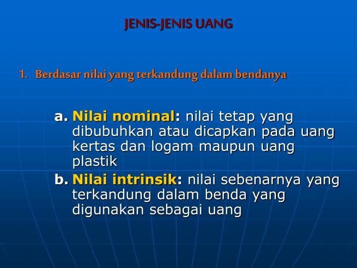 JENIS-JENIS UANG