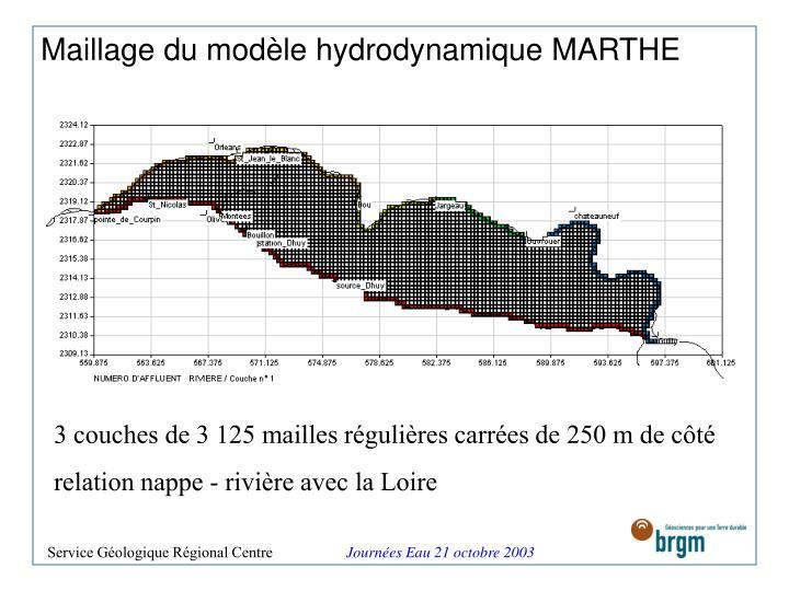 Maillage du modèle hydrodynamique MARTHE