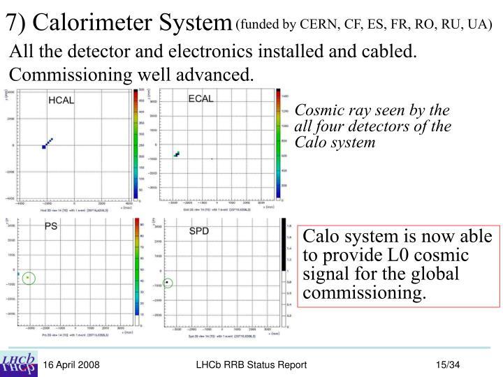 7) Calorimeter System