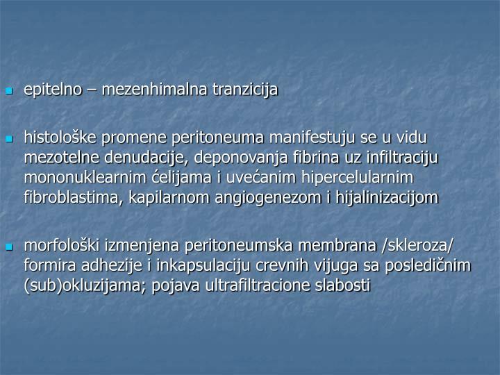 epitelno – mezenhimalna tranzicija