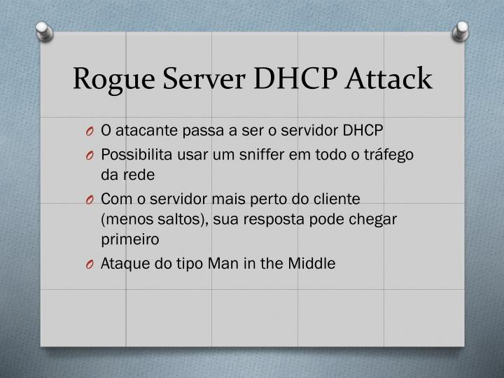 Rogue Server DHCP