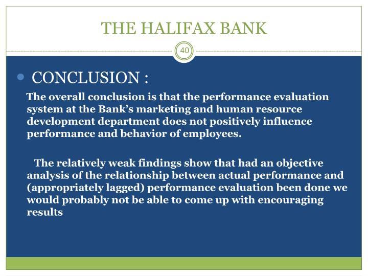 THE HALIFAX BANK