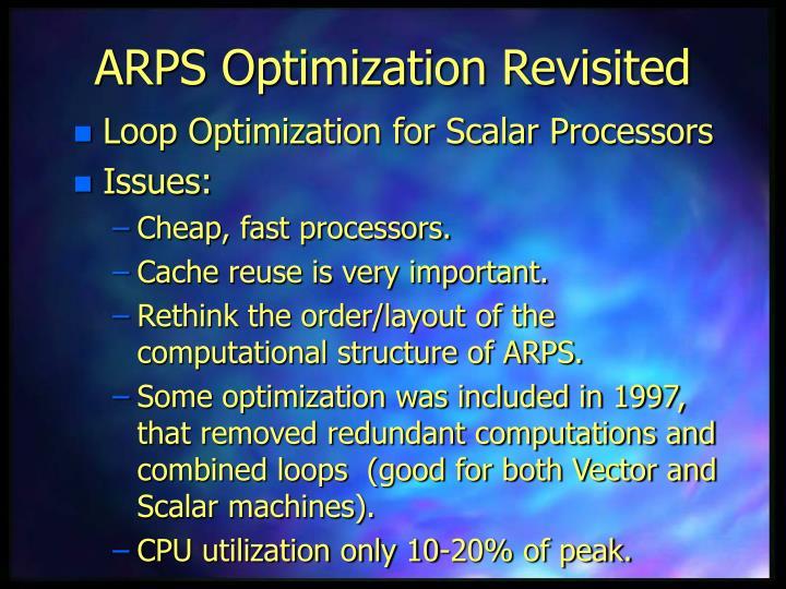 ARPS Optimization Revisited