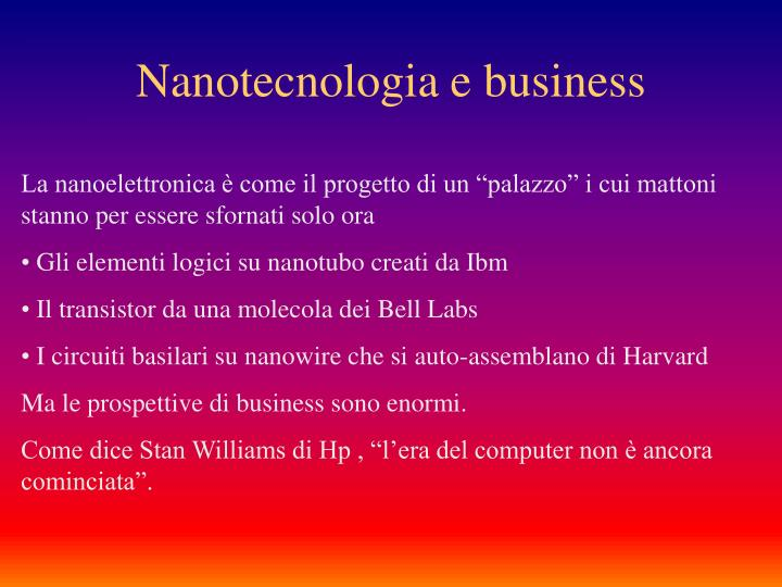 Nanotecnologia e business