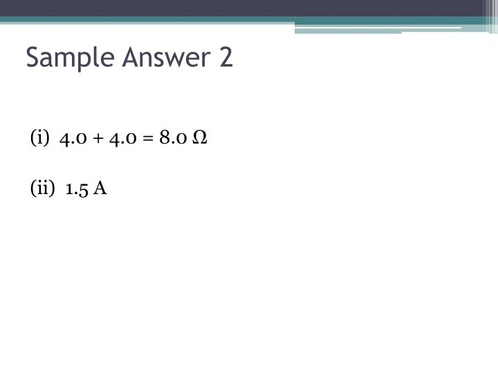 Sample Answer 2