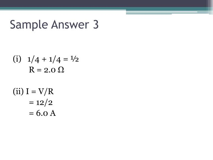 Sample Answer 3