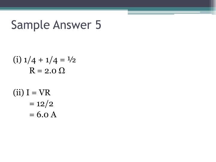 Sample Answer 5