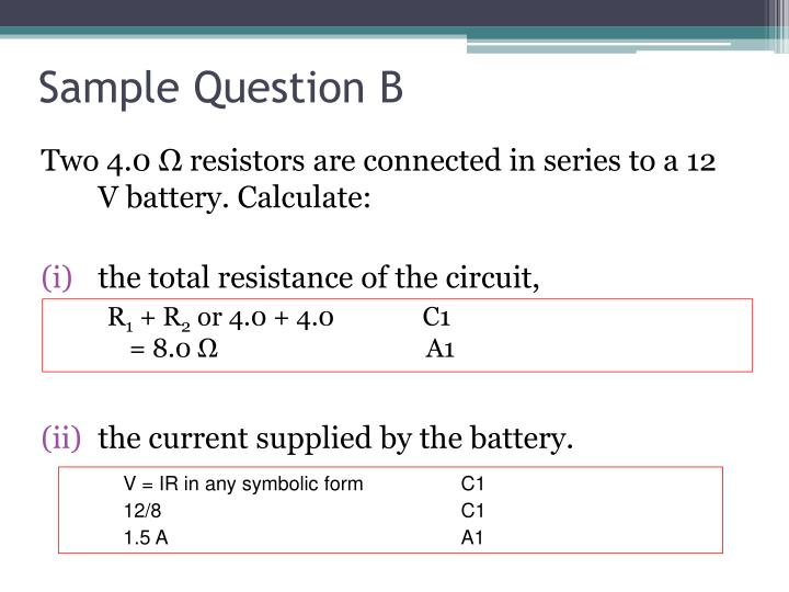 Sample Question B