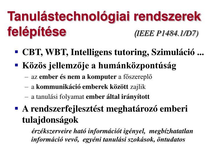 Tanulástechnológiai rendszerek felépítése