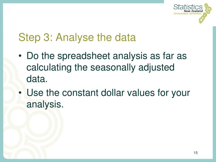 Step 3: Analyse the data