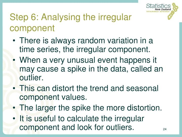 Step 6: Analysing the irregular component