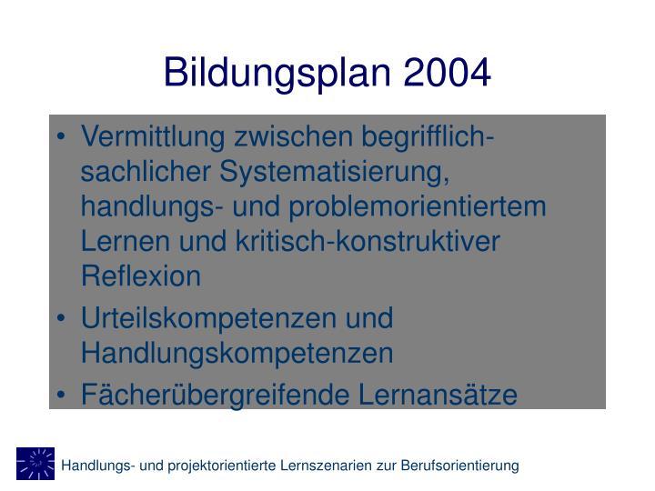 Bildungsplan 2004