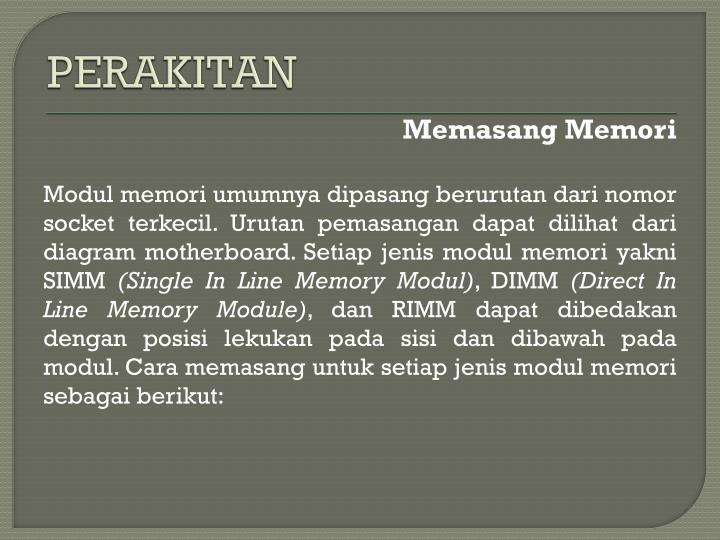 PERAKITAN