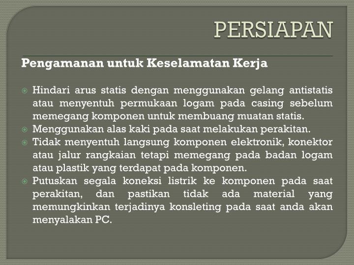 PERSIAPAN
