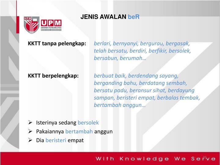 JENIS AWALAN