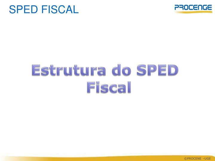 Estrutura do SPED Fiscal