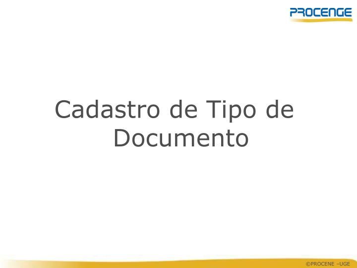 Cadastro de Tipo de Documento