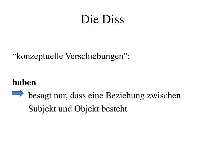 Die Diss